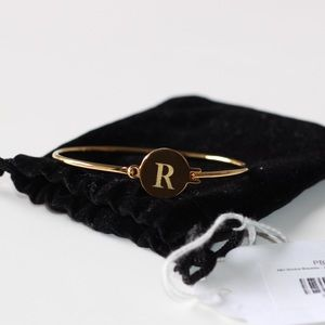 "Jewelry - 14K Gold Over Brass ""R"" Bracelet"
